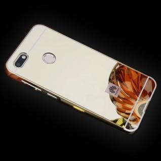 Spiegel / Mirror Alu Bumper 2teilig Gold für Huawei Y6 2018 Tasche Case Cover