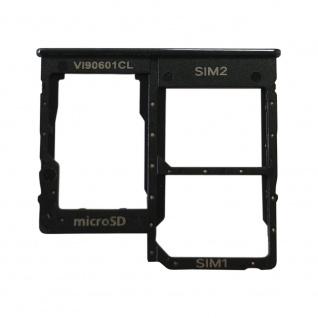 Sim Karten Halter für Samsung Galaxy A20E Schwarz Reparatur Card Tray Ersatzteil