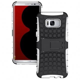 Hybrid Case 2teilig Outdoor Weiß Tasche Hülle für Samsung Galaxy S8 Plus G955F