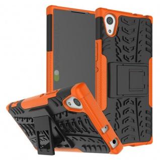 Hybrid Case 2teilig Outdoor Oraange Tasche Hülle für Sony Xperia XA1 Etui Cover