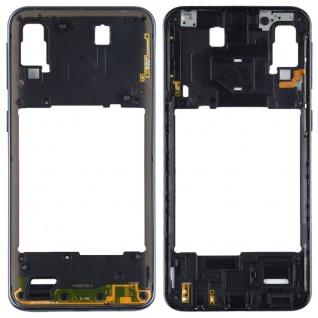 Back Housing Frame für Samsung Galaxy A40 Schwarz Bezel Plate Ersatz Reparatur