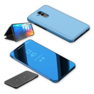 Für Huawei P30 Pro Clear View Smart Cover Blau Etuis Tasche Hülle Wake UP Case - Vorschau 3