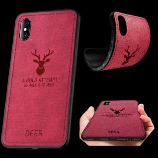 Premium Tasche Silikon Kunstleder Pink für Huawei Mate 20 Lite Hülle Case Cover