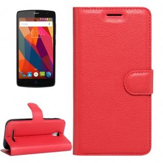 Schutzhülle Rot für ZTE Blade A110 L110 Bookcover Tasche Hülle Wallet Case Neu