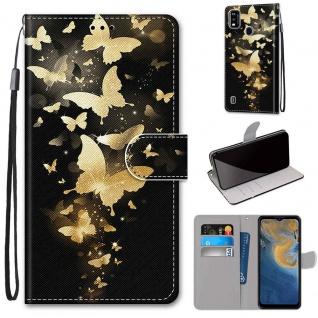 Für ZTE Blade A51 Kunst-Leder Handy Tasche Motiv 3 Hülle Etuis Case Cover Schutz