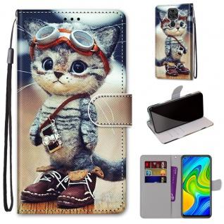 Für Xiaomi Redmi Note 9 Kunst-Leder Handy Tasche Motiv 1 Hülle Etuis Cover Neu