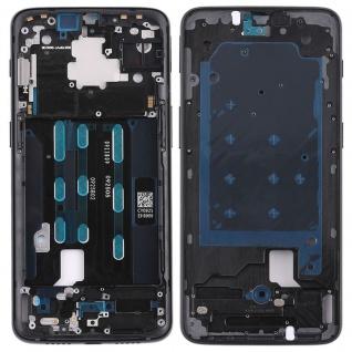 Gehäuse Rahmen Mittelrahmen Deckel für OnePlus 6T SIX Schwarz Reparatur Ersatz