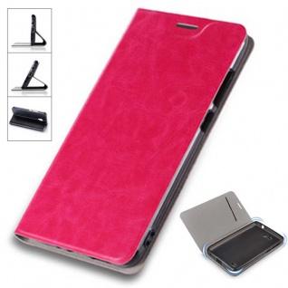 Flip / Smart Cover Pink für Xiaomi Redmi 5 Plus Etui Case Schutz Tasche Hülle