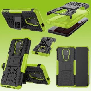 Für Motorola Moto E7 Plus Outdoor Grün Handy Tasche Etuis Hülle Cover Case Neu