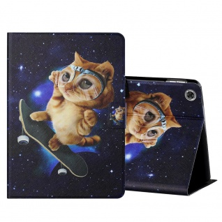 Für Lenovo Tab M10 Plus 10.3 X606F Motiv 4 Tablet Tasche Kunst Leder Hülle Etuis