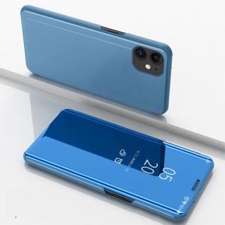 Für Apple iPhone 12 Mini View Smart Cover Hülle Blau Handy Tasche Wake UP Etuis