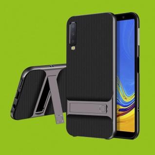 Für Samsung Galaxy A7 A750F 2018 Standing Hybrid Grau Tasche Etuis Hülle Outdoor