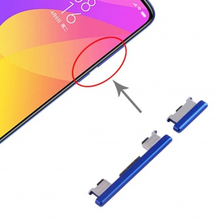 Für Xiaomi Mi 9 Lite Sidekeys Seitentasten Blau Ersatzteil Zubehör Reparatur