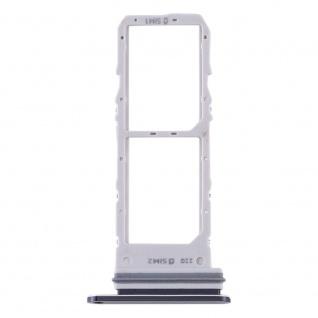 Dual Sim Karten Halter für Samsung Galaxy Note 10 Schwarz Card Tray
