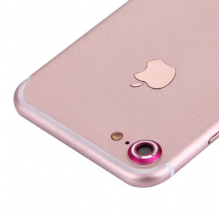Kameraschutz für Apple iPhone 7 4, 7 Kamera Schutz Kameraring Cam Protector Pink