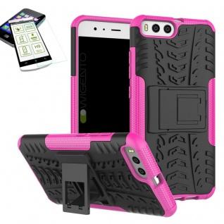 Hybrid Case Tasche Outdoor 2teilig Pink für Xiaomi Mi6 Hülle + Hartglas Etui