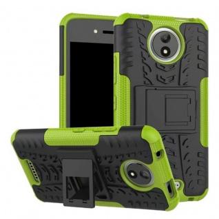 Hybrid Case 2teilig Outdoor Grün Tasche Hülle für Motorola Moto C Plus Cover Neu