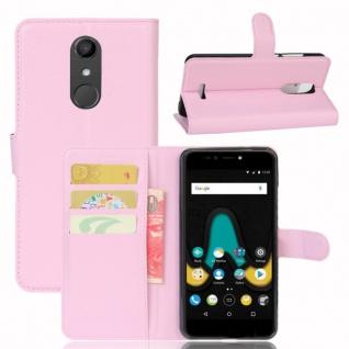 Tasche Wallet Premium Rosa für Wiko Upulse Hülle Case Cover Etui Schutz Zubehör