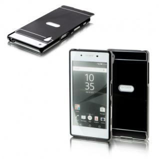 Alu Bumper 2 teilig Abdeckung Schwarz für Sony Xperia Z5 5.2 Zoll Tasche Hülle