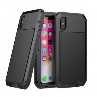 Metall Protective Case für Apple iPhone XS Max 6.5 Cover Schwarz Waterproof