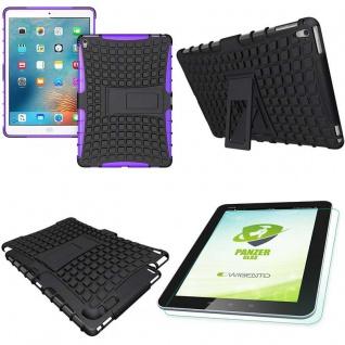 Hybrid Outdoor Schutzhülle Lila für iPad Pro 9.7 Tasche + 0.4 H9 Hartglas Case