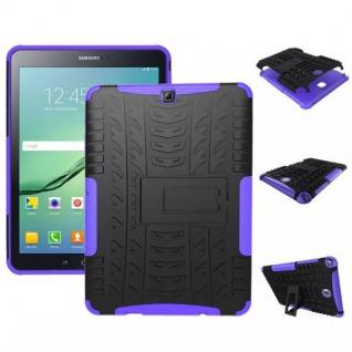 Hybrid Outdoor Schutzhülle Lila für Samsung Galaxy Tab S2 9.7 T810 Tasche Hülle