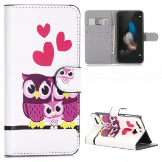 Schutzhülle Muster 31 für Huawei P9 Bookcover Tasche Case Hülle Wallet Etui Neu