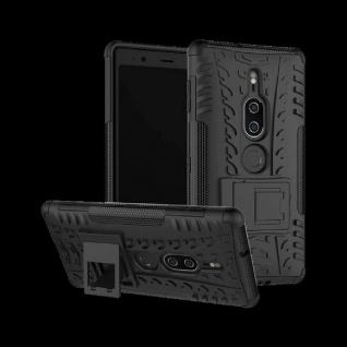 Hybrid Case 2teilig Outdoor Schwarz Tasche Hülle für Sony Xperia XZ2 Premium Neu