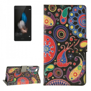 Schutzhülle Muster 8 für Huawei Ascend P8 Lite Bookcover Tasche Hülle Wallet7