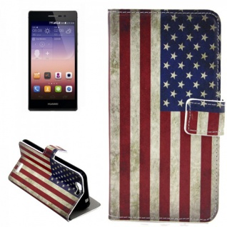 Schutzhülle Muster 10 für Huawei Ascend G7 Bookcover Tasche Case Hülle Wallet
