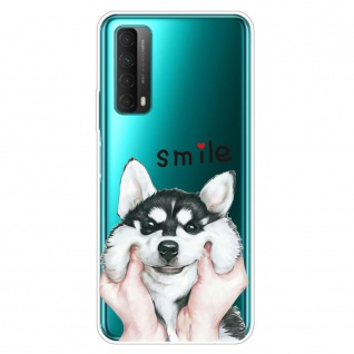 Für Huawei P Smart 2021 Silikon TPU Motiv Dog Handy Tasche Hülle Transparent