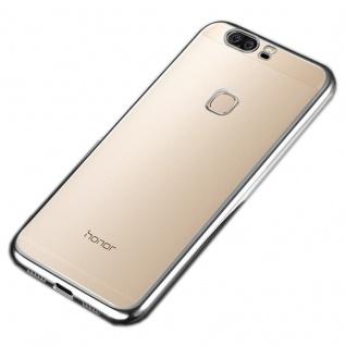 Premium TPU Schutzhülle Silber für Huawei Honor 8 Tasche Backcover Silikon Case