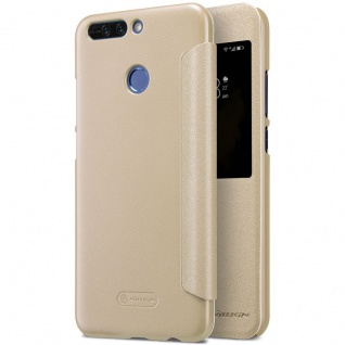 Nillkin Smartcover Gold für Huawei Honor 8 Pro Tasche Hülle Case Etui Schutz Neu