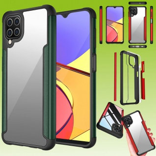 Für Samsung Galaxy A12 Hybrid Iron Man Grün Handy Tasche Etuis Hülle