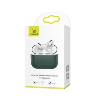 USAMS Apple AirPods Pro Cover Grün Schutzhülle Tasche Case Etui