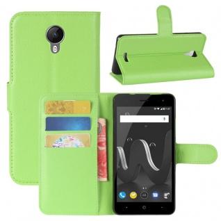 Tasche Wallet Premium Grün für Wiko Jerry 2 Hülle Case Cover Etui Schutz Neu Top
