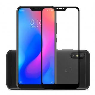 Für Xiaomi MI A2 Lite / Redmi 6 Pro 3D Display 0, 3 mm H9 Hart Glas Schwarz Folie