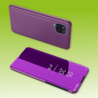 Für Samsung Galaxy A32 5G View Smart Cover Hülle Magenta Handy Tasche Etuis Case