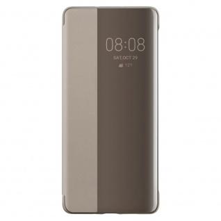 Smart View Flip Cover Khaki für Huawei P30 Pro 51992886 Case Tasche Etui Schale