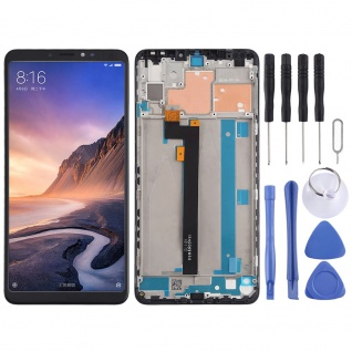 Für Xiaomi Mi MAX 3 Display Full LCD Touch Einheit mit Rahmen Reparatur Schwarz - Vorschau 1