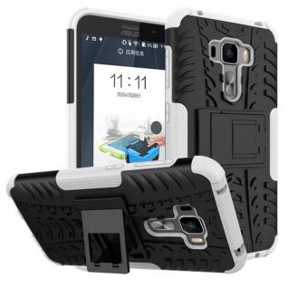 Für ASUS Zenfone 3 ZE552KL 5.5 Hybrid Case 2teilig Outdoor Weiß Tasche Hülle Neu