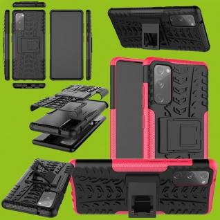 Für Samsung Galaxy S20 FE Hybrid Case Outdoor Pink Handy Tasche Etuis Cover Etui