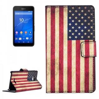 Schutzhülle Muster 10 für Sony Xperia E4G Bookcover Tasche Hülle Wallet Case