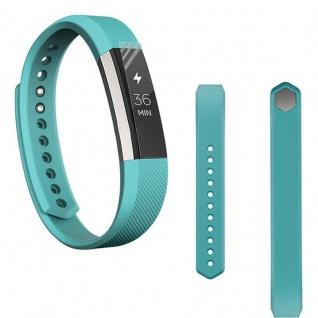 Für Fitbit Alta HR Kunststoff / Silikon Armband für Frauen / Größe S Türkis Uhr