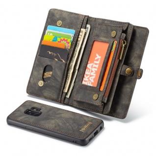 Schutzhülle Handy Tasche f. Samsung Galaxy S9 G960F Geldbeutel Hülle Etui Black