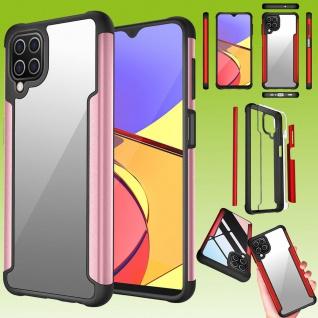 Für Samsung Galaxy A12 Hybrid Iron Man Rose Gold Handy Tasche Etuis Hülle