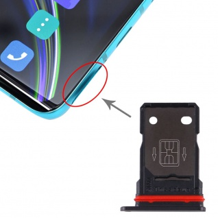 SIM Karten Halter + SIM Karten Halter für OnePlus 8 Schwarz Schlitten Sim Tray