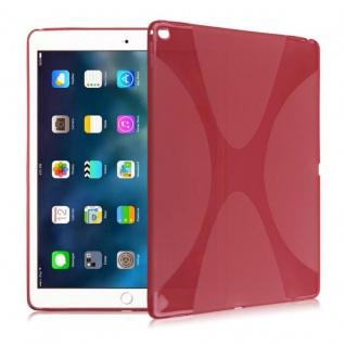 Schutzhülle Silikon X-Line Rot Hülle für Apple iPad Pro 9.7 Zoll Tasche Cover