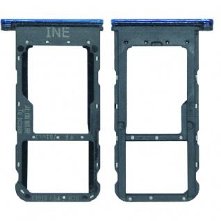 Für Huawei P Smart Plus Karten Halter Sim Tray Schlitten Holder Blau Ersatzteil - Vorschau 3