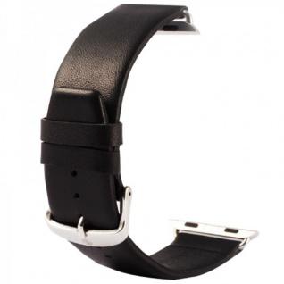 Echtleder Leder Armband Schwarz für Apple Watch Lederarmband 38 mm iWatch Zubehör
